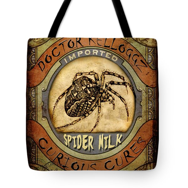 Spider Milk Tote Bag