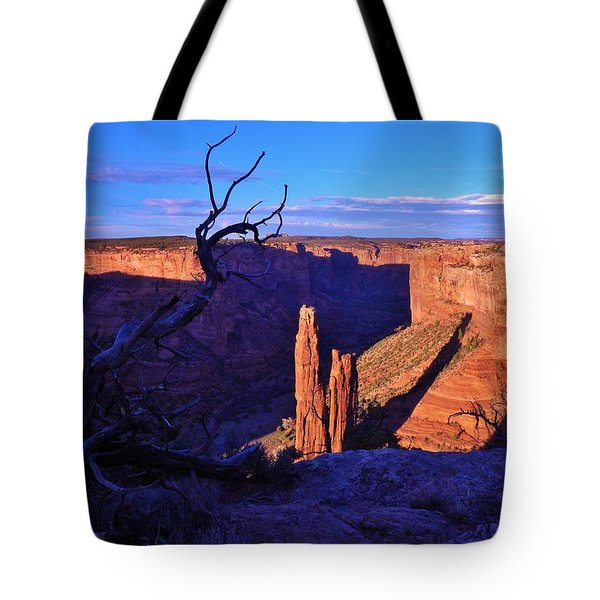 Spider Rock Tote Bag by John Wanserski