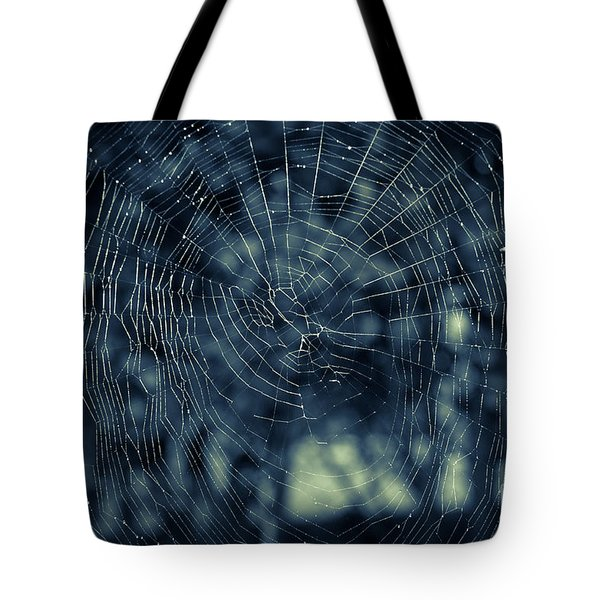 Tote Bag featuring the photograph Spider Web by Matt Malloy