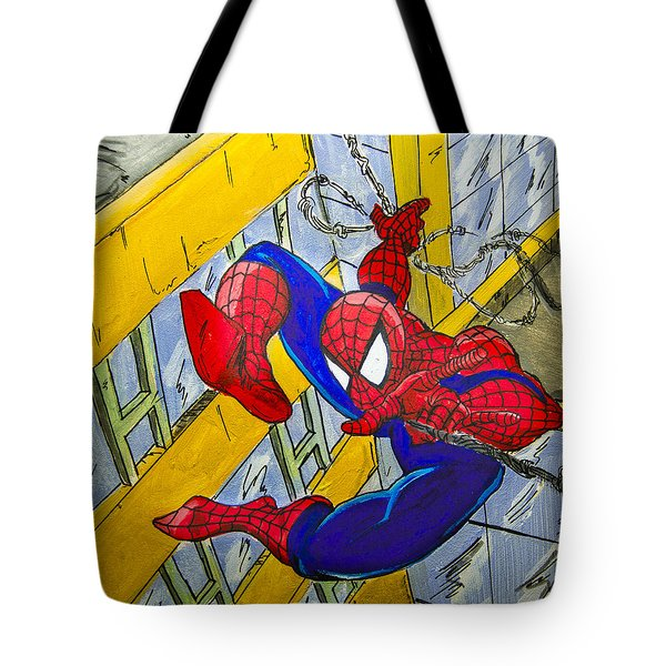 Spidey  Tote Bag by Chris  Leon