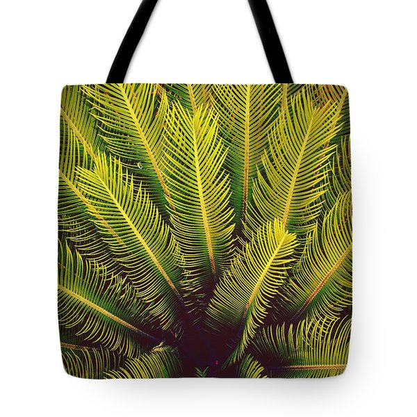Spiked Leaves Tote Bag by Sumit Mehndiratta