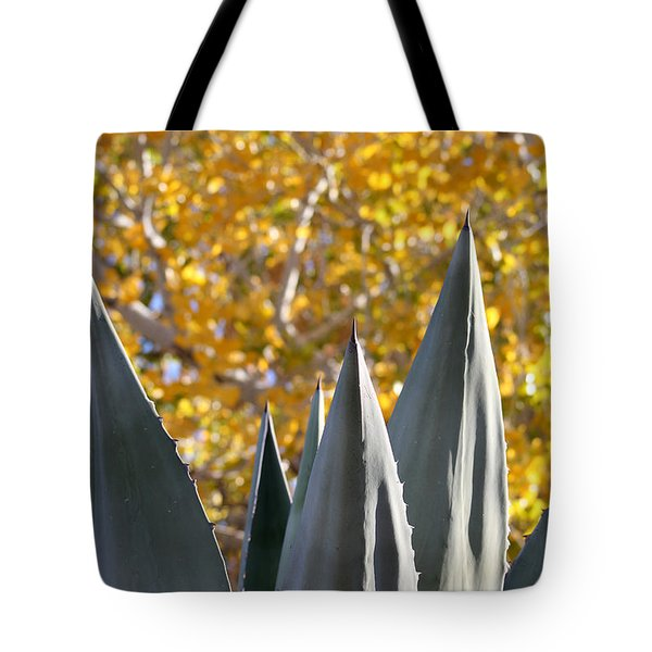 Spikes And Leaves Tote Bag