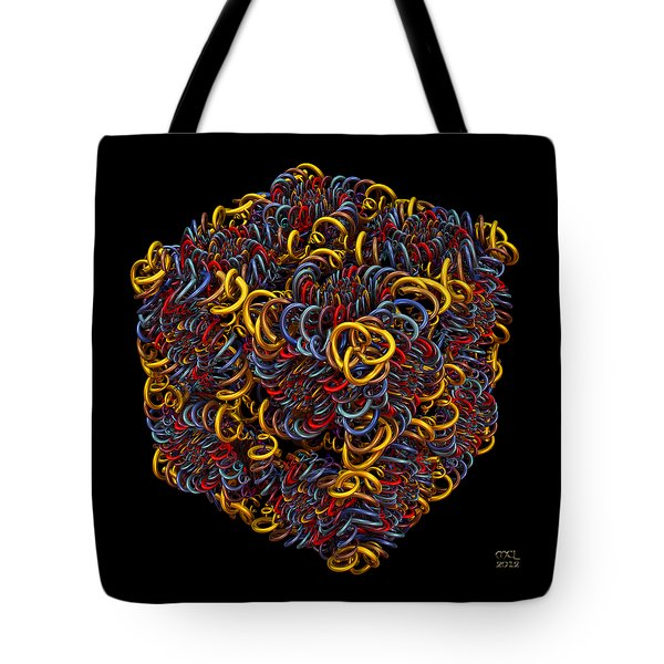Tote Bag featuring the digital art Spiral Box Iv by Manny Lorenzo