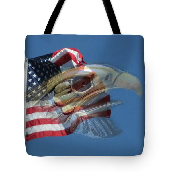 Spirit Of The Screaming Eagles Tote Bag by Kevin Caudill