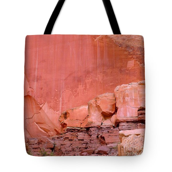 Tote Bag featuring the photograph Spirit Wall by Ann Johndro-Collins