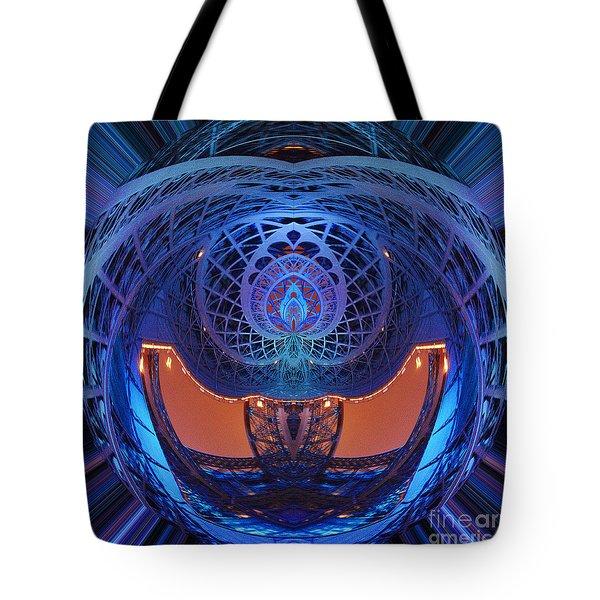 Spirograph Planet Tote Bag