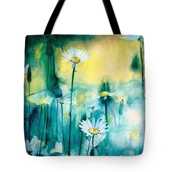 Splash Of Daisies Tote Bag by Cyndi Brewer