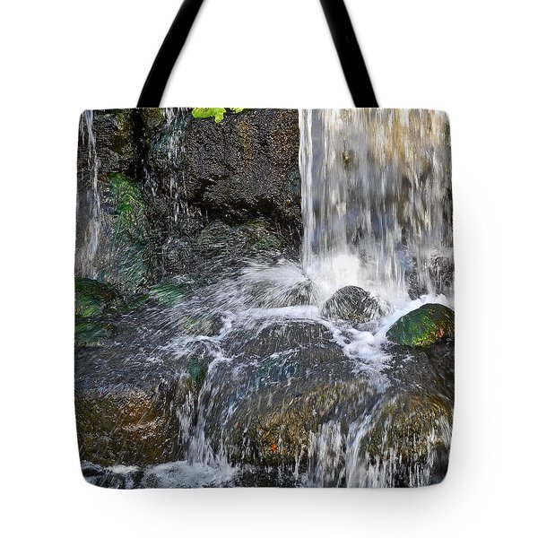 Tote Bag featuring the photograph Splashing Water Falls by Kirsten Giving