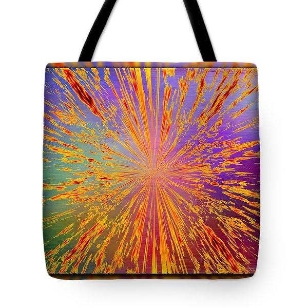 Splattered Tote Bag by Tim Allen