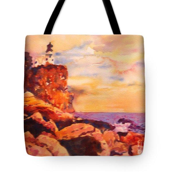 Split Rocks Golden Memories       Tote Bag by Kathy Braud