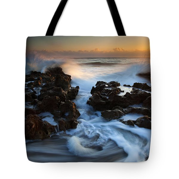 Splitting The Reef Tote Bag by Mike  Dawson