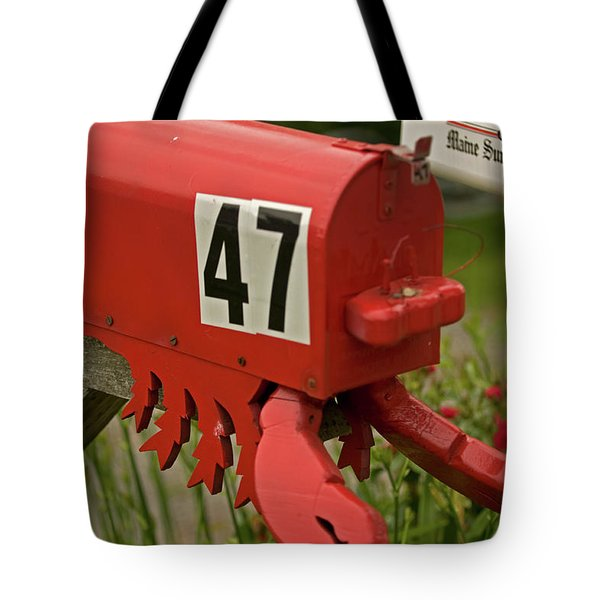 Sponge Bob's Mail Box  Tote Bag by Paul Mangold