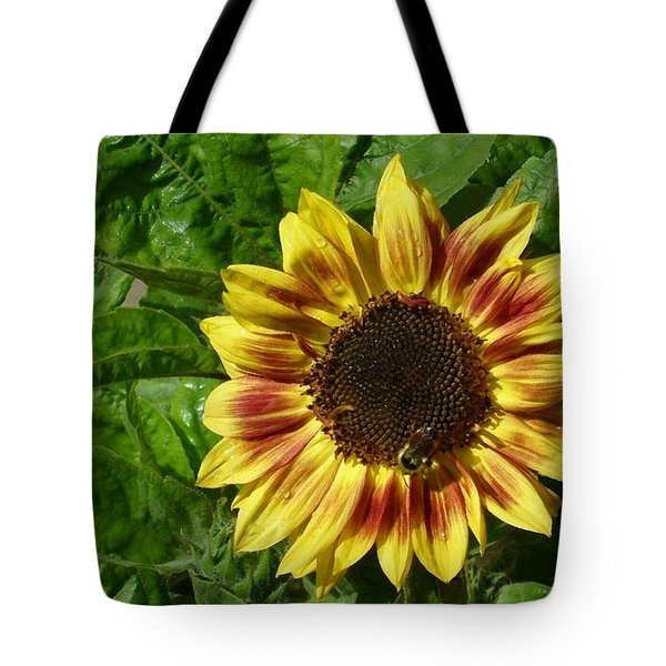 Tote Bag featuring the photograph Spot The Bee by Jim Sauchyn