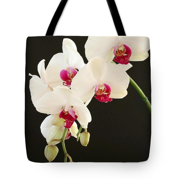 Tote Bag featuring the photograph Spray Of White Orchids by Sabrina L Ryan