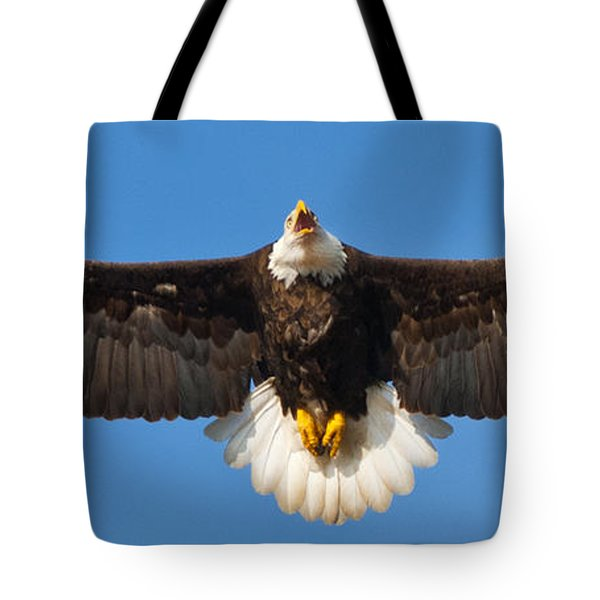 Tote Bag featuring the photograph Spread Eagle by Randall Branham
