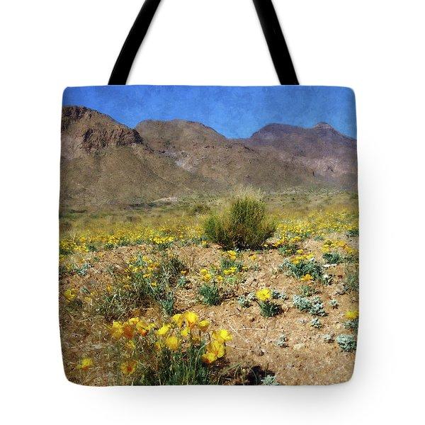 Spring Bloom Franklin Mountains Tote Bag by Kurt Van Wagner