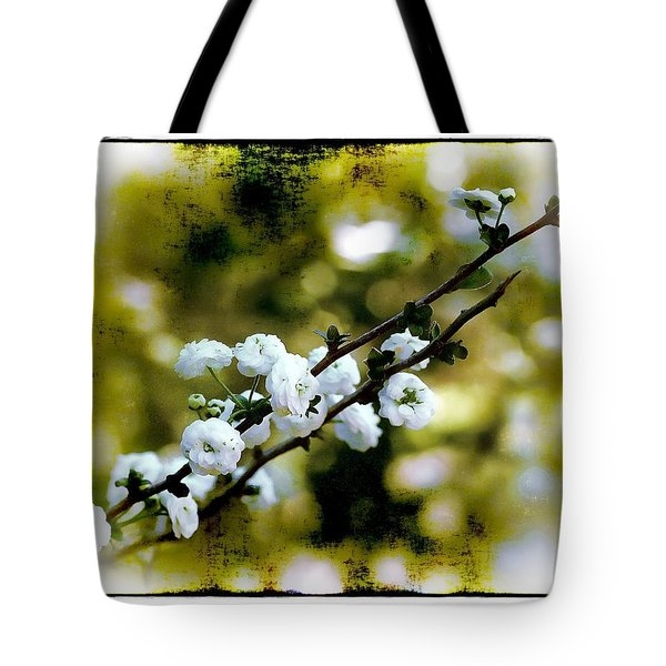 Spring Bough Tote Bag by Judi Bagwell