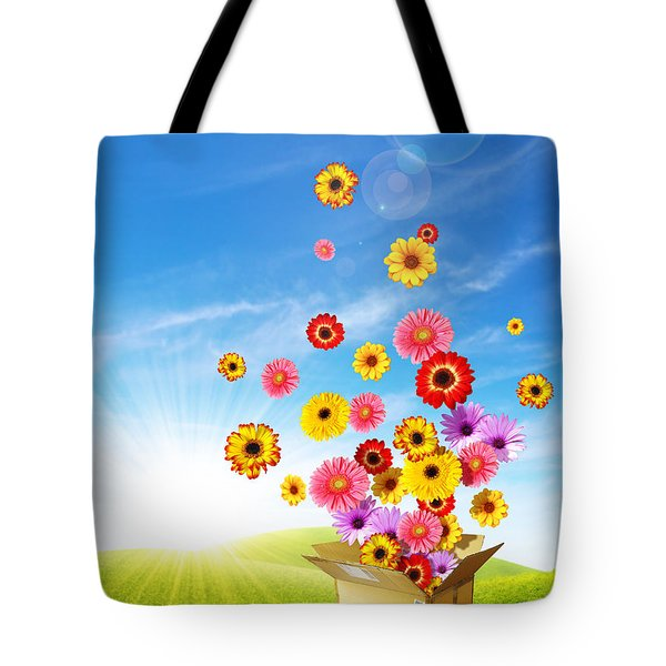 Spring Delivery 2 Tote Bag by Carlos Caetano