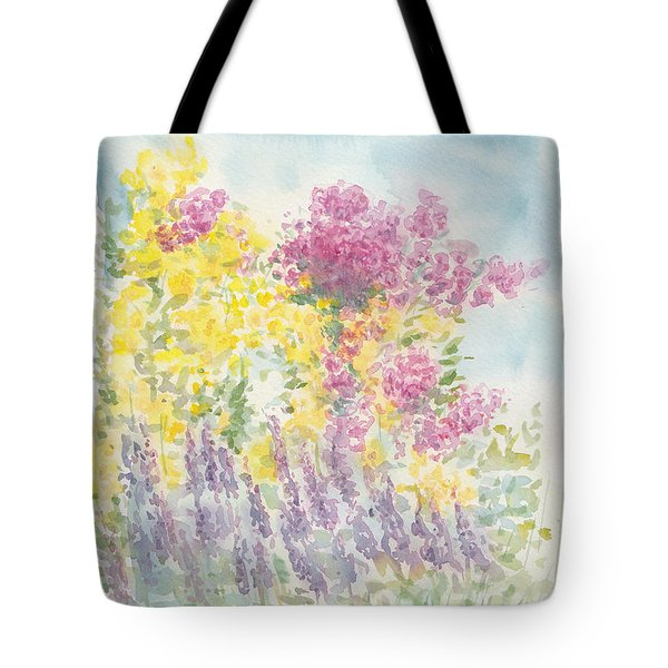 Tote Bag featuring the painting Spring Garden by Jane  See