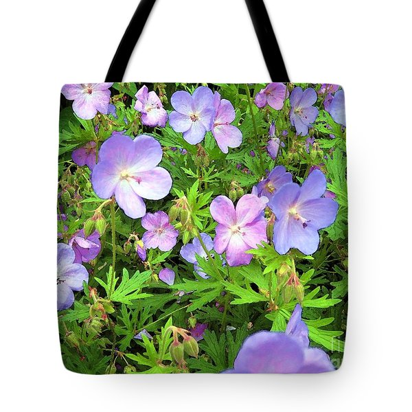 Tote Bag featuring the photograph Spring Garden - Flowers by Susan Carella