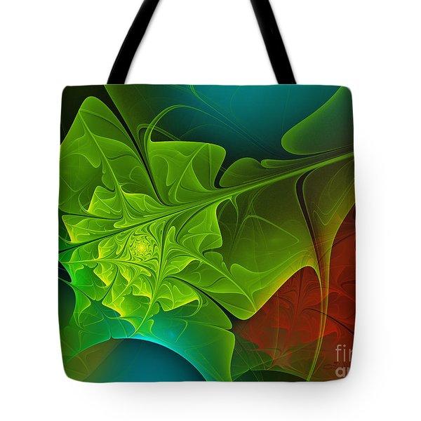 Spring Tote Bag by Jutta Maria Pusl
