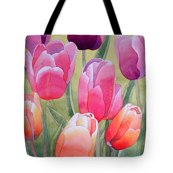Tote Bag featuring the painting Spring by Laurel Best
