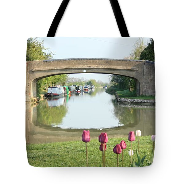 Spring On The Oxford Canal Tote Bag by Linsey Williams