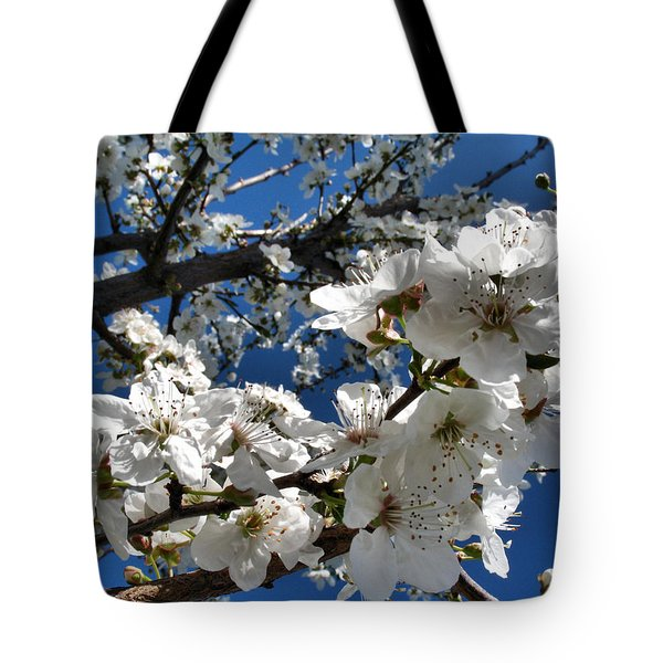 Spring Pear Blossoms 2012 Tote Bag by Joyce Dickens