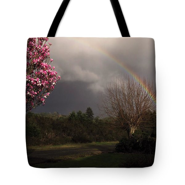 Tote Bag featuring the photograph Spring Rainbow by Katie Wing Vigil