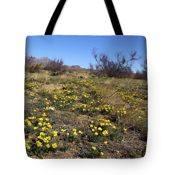Spring Surprise Franklin Mountains Tote Bag by Kurt Van Wagner