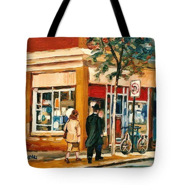 Spring Time In Montreal City Scene Tote Bag by Carole Spandau