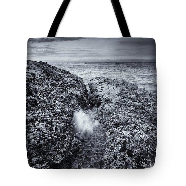 Squeezing Through Every Crack Tote Bag by Mike  Dawson