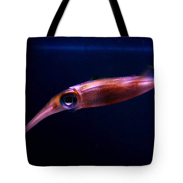 Squid In Pink Tote Bag