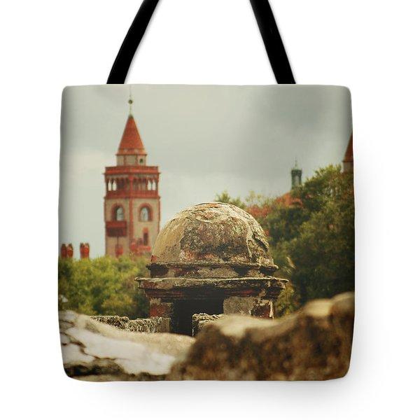 St. Augustine Castillo De San Marcos  Tote Bag by Toni Hopper