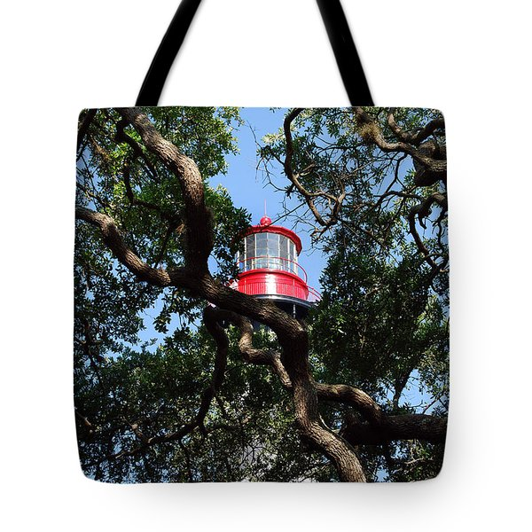 St Augustine Tree House Tote Bag by Skip Willits