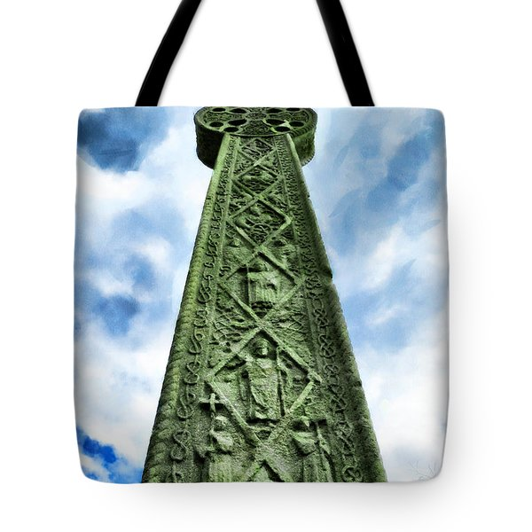 Tote Bag featuring the photograph St Augustines Cross Close Up by Steve Taylor