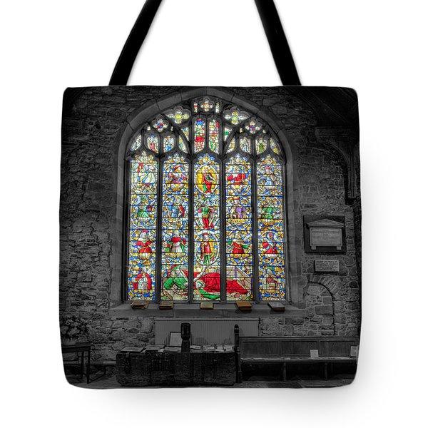 St Dyfnog Window Tote Bag by Adrian Evans