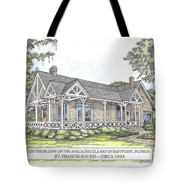 St Francis Sound Circa 1933 Tote Bag by Audrey Peaty