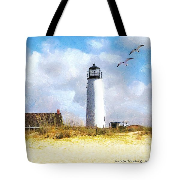 Tote Bag featuring the photograph St. George Island Lighthouse by Rhonda Strickland