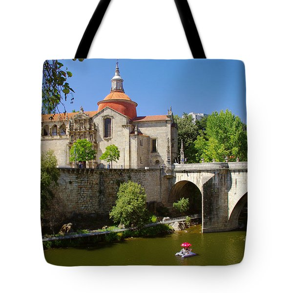 St Goncalo Cathedral Tote Bag by Carlos Caetano