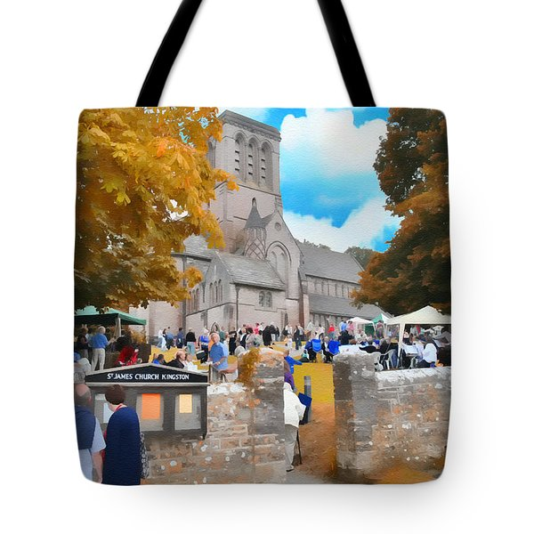 St. James Church Tote Bag by Tom Schmidt