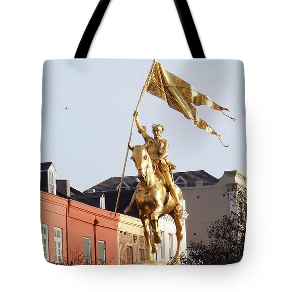 Tote Bag featuring the photograph St. Joan At Dawn by Alys Caviness-Gober