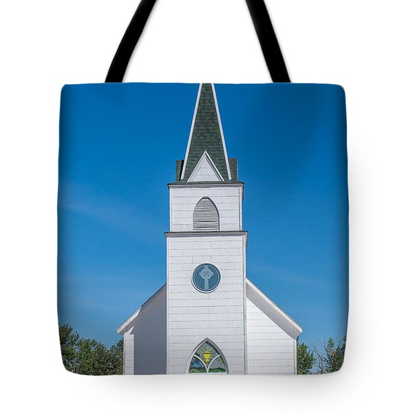 Tote Bag featuring the photograph St. John The Evangelist Catholic Church by Fran Riley