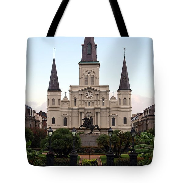 St Louis Cathedral On Jackson Square In The French Quarter New Orleans Tote Bag