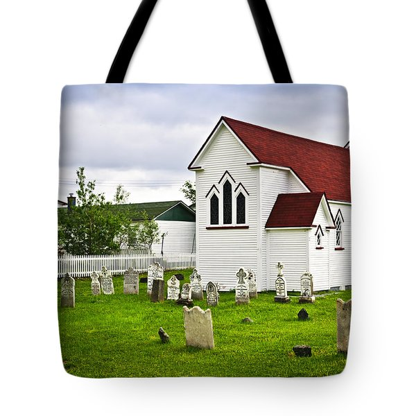 St. Luke's Church In Placentia Newfoundland Tote Bag by Elena Elisseeva