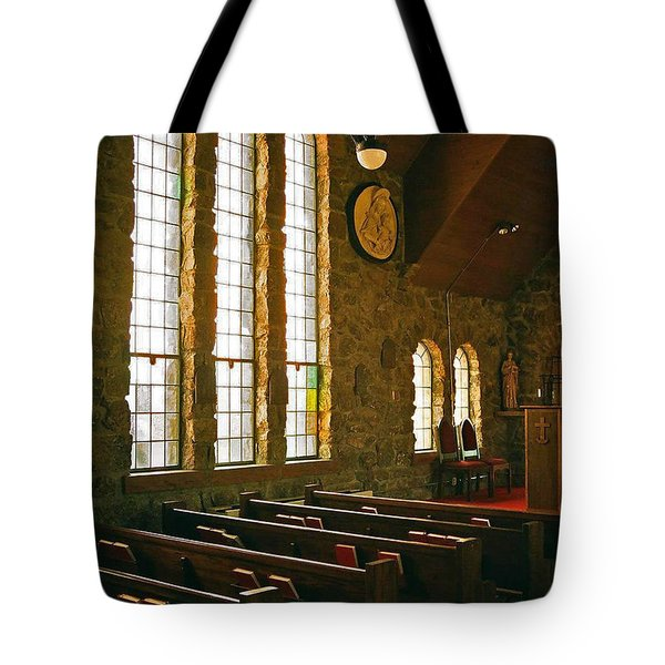Tote Bag featuring the photograph St Malo Church by David Pantuso