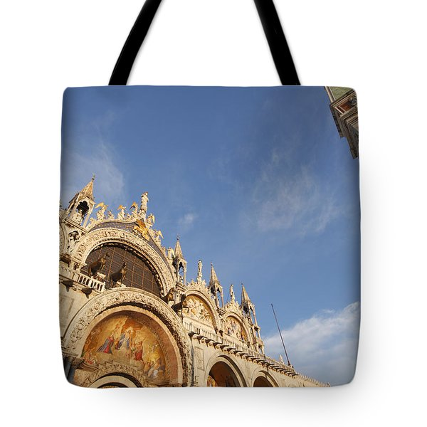 St. Markss Basilica And Campanile Off Tote Bag by Trish Punch