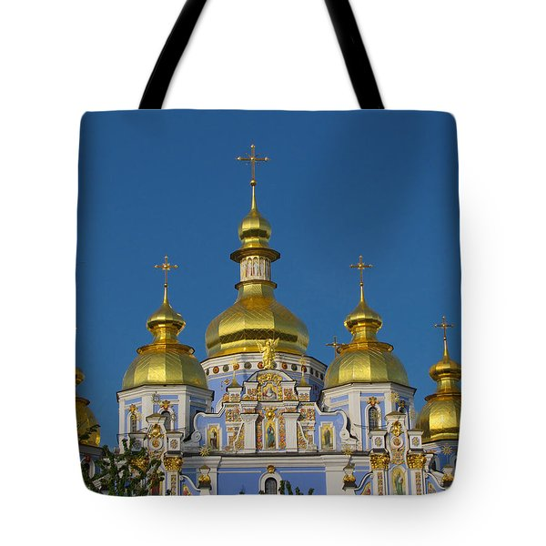 Tote Bag featuring the photograph St. Michael's Cathedral by David Gleeson