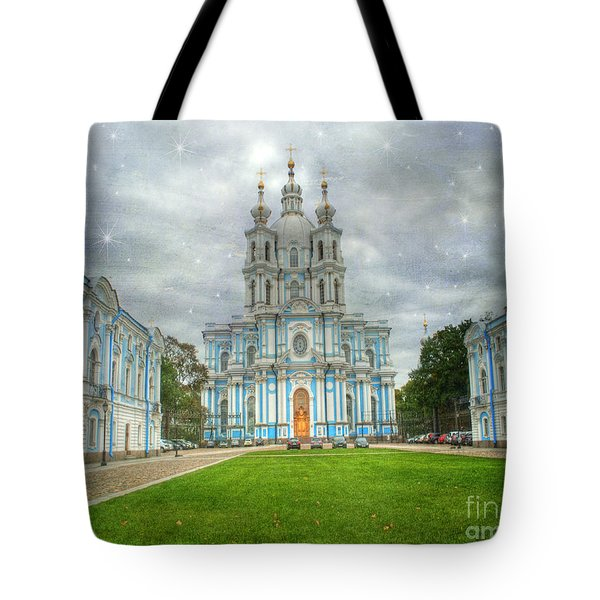Smolny Convent. St. Petersburg. Russia Tote Bag