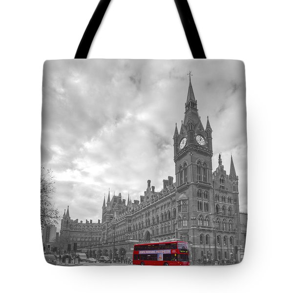 St Pancras Station Bw Tote Bag